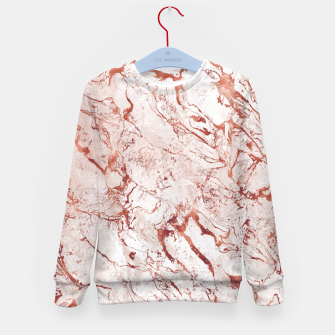 Thumbnail image of RoseGold Marble Kid's Sweater, Live Heroes