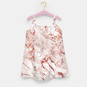 Thumbnail image of RoseGold Marble Girl's Dress, Live Heroes