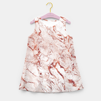 Thumbnail image of RoseGold Marble Girl's Summer Dress, Live Heroes