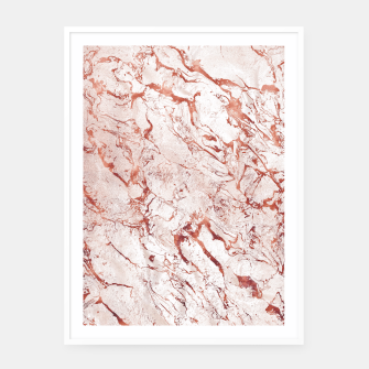 Thumbnail image of RoseGold Marble Framed poster, Live Heroes
