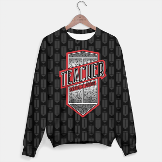 Thumbnail image of Teacher Shield Sweater, Live Heroes