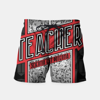 Teacher Shield Swim Shorts thumbnail image
