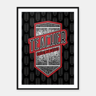 Teacher Shield Framed poster thumbnail image