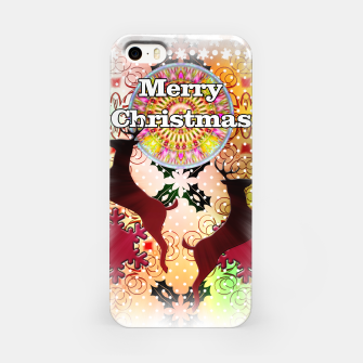 Thumbnail image of Ugly Sweater Reindeer Snowfall iPhone Case, Live Heroes