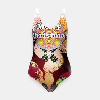 Thumbnail image of Ugly Sweater Reindeer Snowfall Swimsuit, Live Heroes