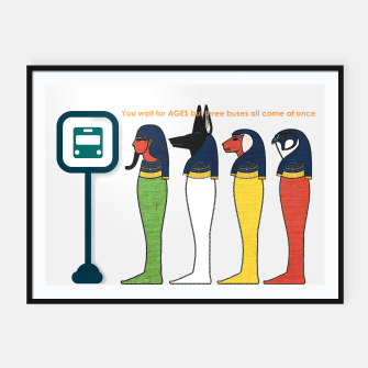Ancient Egyptian Busstop Framed poster thumbnail image