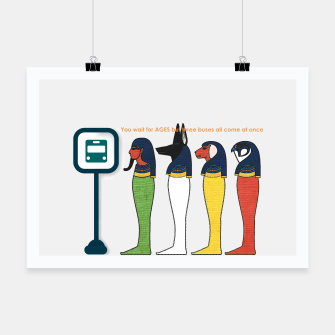 Ancient Egyptian Busstop Poster thumbnail image