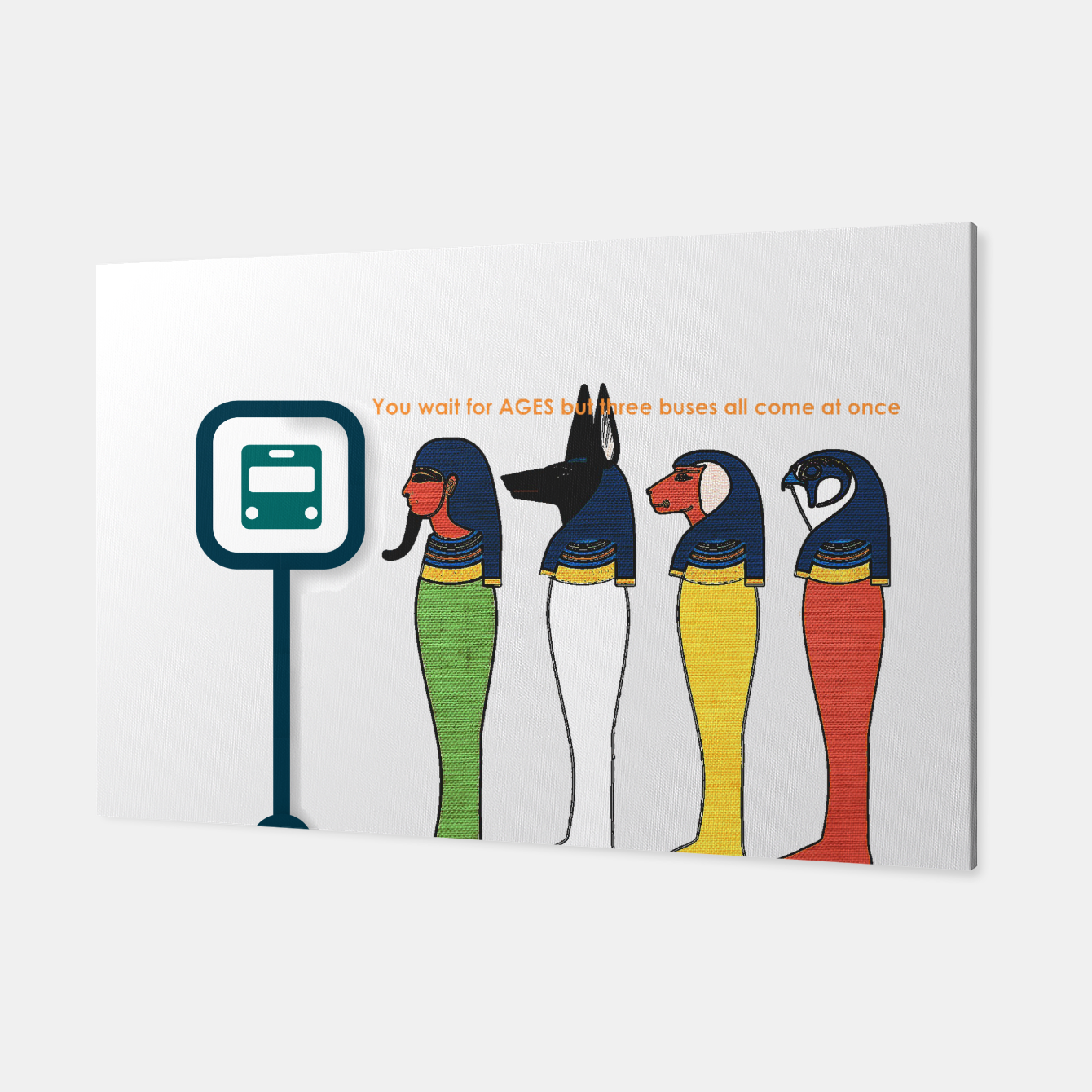 Image of Ancient Egyptian Busstop Canvas - Live Heroes