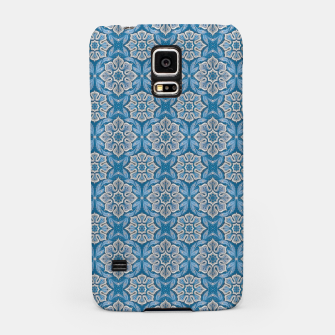 Snow Flower Blue & Gray Pattern Samsung Case thumbnail image