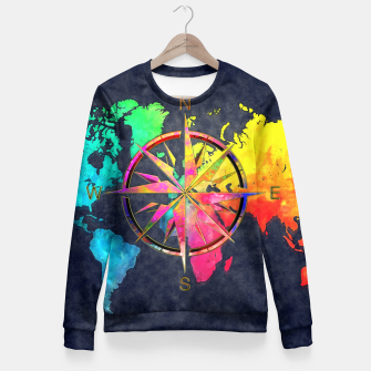 Miniaturka world map wind rose Bluza taliowana, Live Heroes