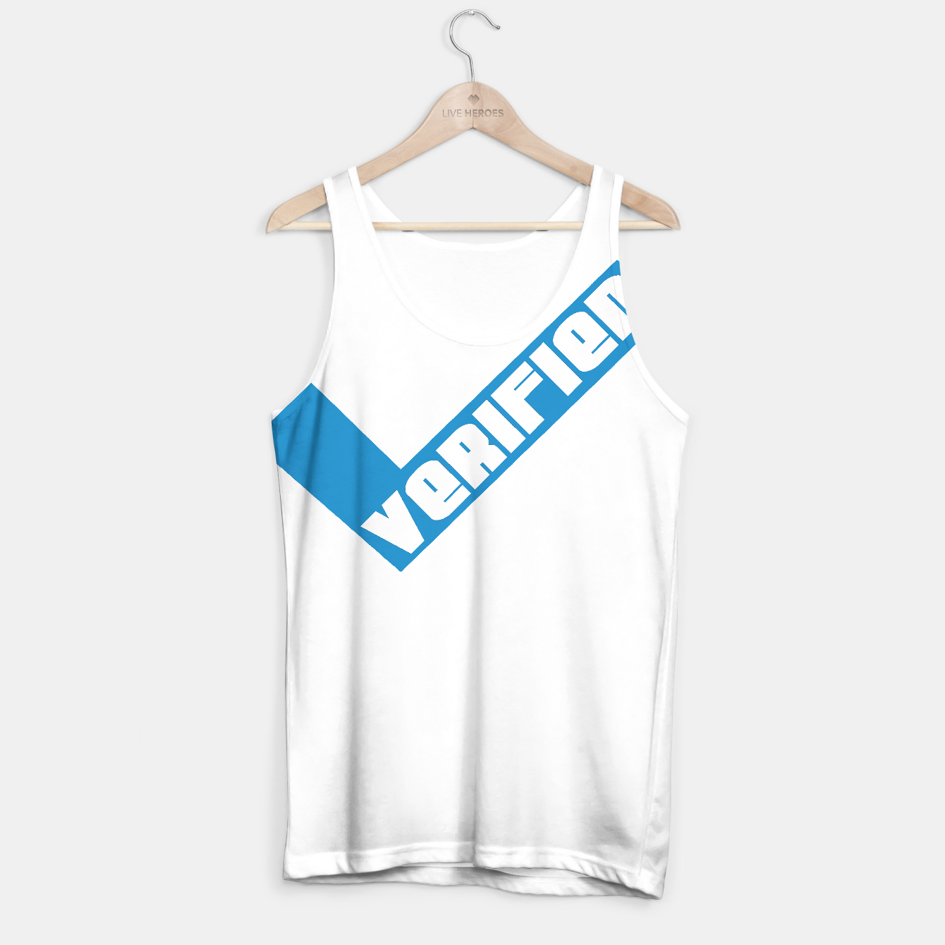 Image of Verified Blue Check Mark Tank Top Shirt - Live Heroes