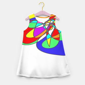 Thumbnail image of Colorful Abstract Art Summer Dress, Live Heroes