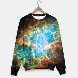 Miniature de image de Crab Nebula Outer Space Sweater, Live Heroes