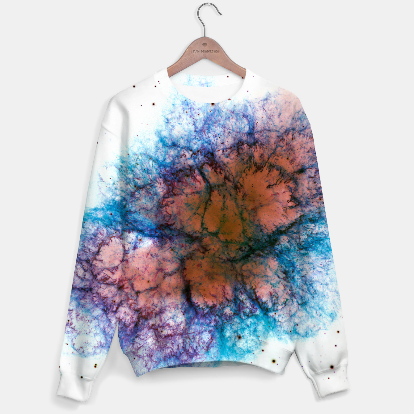 Image of Inverted Crab Nebula Outer Space Sweater - Live Heroes