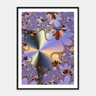 Thumbnail image of Metallic shine with fractals Framed poster, Live Heroes