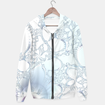 Thumbnail image of Ice crystals of a fractal winter Hoodie, Live Heroes