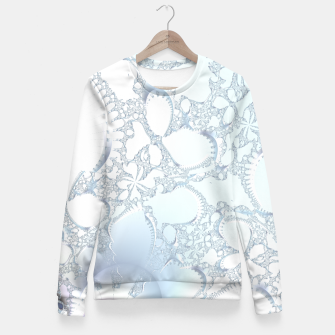 Thumbnail image of Ice crystals of a fractal winter Fitted Waist Sweater, Live Heroes