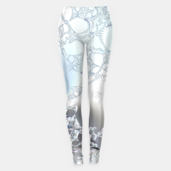 Thumbnail image of Ice crystals of a fractal winter Leggings, Live Heroes