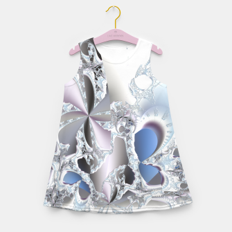 Thumbnail image of Ice crystals of a fractal winter Girl's Summer Dress, Live Heroes