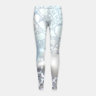 Thumbnail image of Ice crystals of a fractal winter Girl's Leggings, Live Heroes