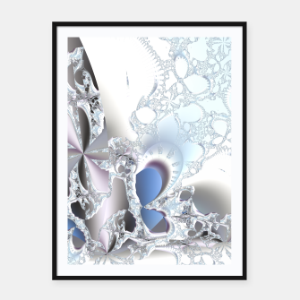 Thumbnail image of Ice crystals of a fractal winter Framed poster, Live Heroes