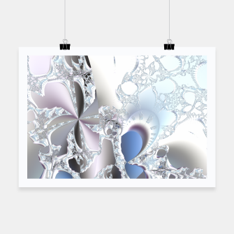 Thumbnail image of Ice crystals of a fractal winter Poster, Live Heroes