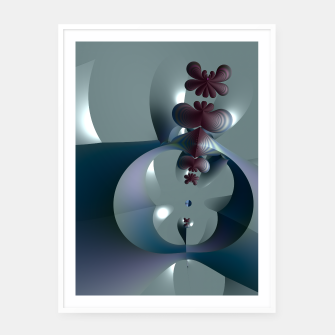 Thumbnail image of Life sprouting in the silence of an abstract fantasy Framed poster, Live Heroes