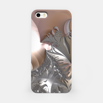 Miniatur Muted misty colors of a fractal world at dusk light iPhone Case, Live Heroes