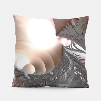 Miniatur Muted misty colors of a fractal world at dusk light Pillow, Live Heroes
