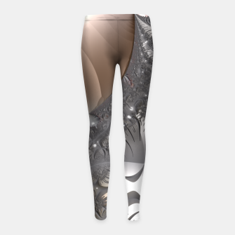 Miniatur Muted misty colors of a fractal world at dusk light Girl's Leggings, Live Heroes