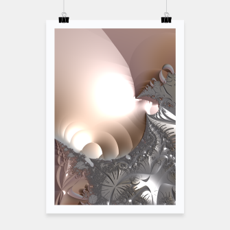 Miniatur Muted misty colors of a fractal world at dusk light Poster, Live Heroes
