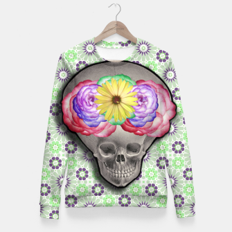Thumbnail image of ALIEN SKULL Fitted Waist Sweater, Live Heroes