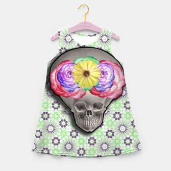 Thumbnail image of ALIEN SKULL Girl's Summer Dress, Live Heroes