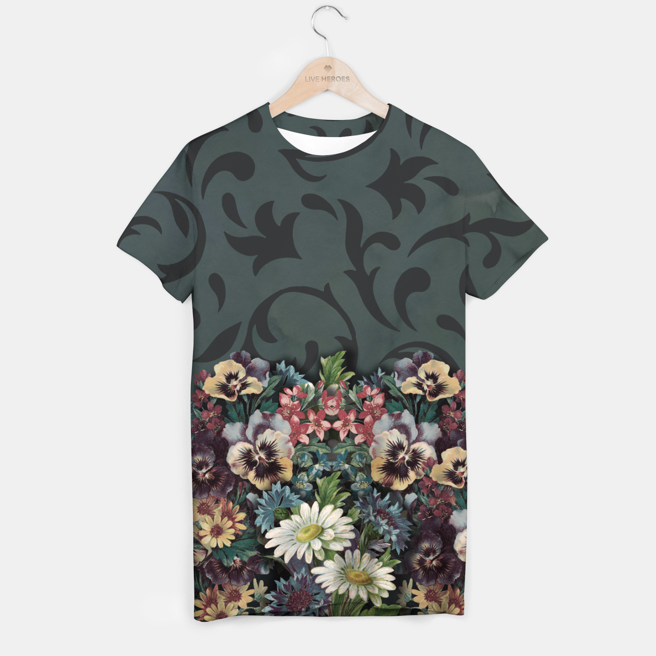 Image of VINTAGE FLOWERS T-shirt - Live Heroes