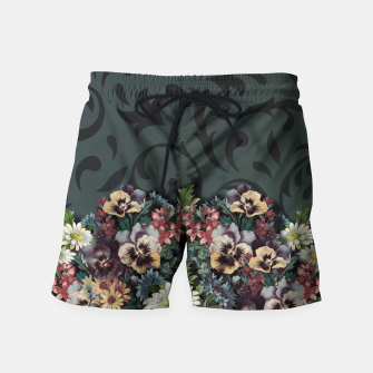 Thumbnail image of VINTAGE FLOWERS Swim Shorts, Live Heroes