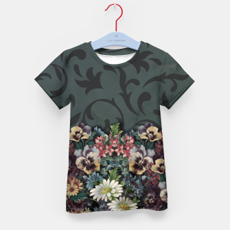 Thumbnail image of VINTAGE FLOWERS Kid's T-shirt, Live Heroes