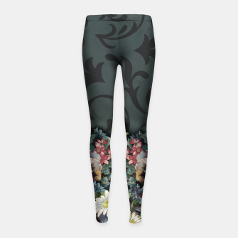 Thumbnail image of VINTAGE FLOWERS Girl's Leggings, Live Heroes