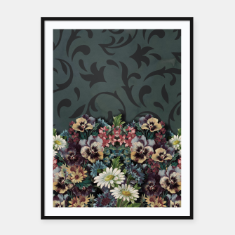 Thumbnail image of VINTAGE FLOWERS Framed poster, Live Heroes