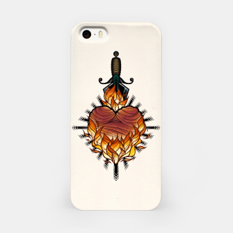 Miniatur Heart on fire - Carcasa por Iphone, Live Heroes