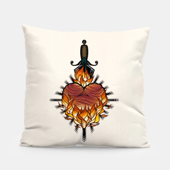 Heart on fire - Almohada Bild der Miniatur
