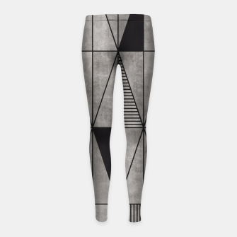 Thumbnail image of Concrete Triangles Girl's Leggings, Live Heroes