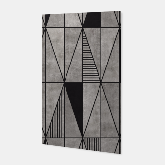 Thumbnail image of Concrete Triangles Canvas, Live Heroes