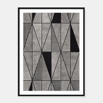 Thumbnail image of Concrete Triangles Framed poster, Live Heroes