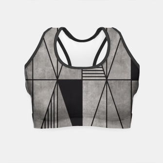 Thumbnail image of Concrete Triangles Crop Top, Live Heroes