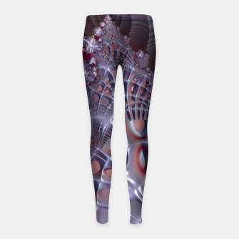 Thumbnail image of Fancy fence - A fractal fantasy Girl's Leggings, Live Heroes