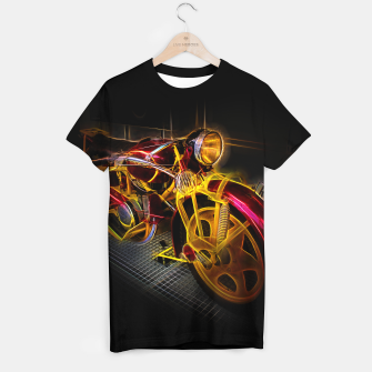 Thumbnail image of Fractal Motorcycle T-shirt, Live Heroes