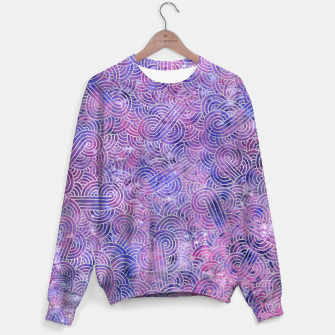 Miniatur Purple and faux silver swirls doodles Sweater, Live Heroes
