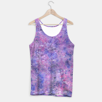 Miniatur Purple and faux silver swirls doodles Tank Top, Live Heroes