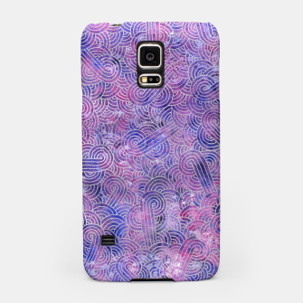 Miniatur Purple and faux silver swirls doodles Samsung Case, Live Heroes