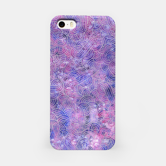 Miniatur Purple and faux silver swirls doodles iPhone Case, Live Heroes